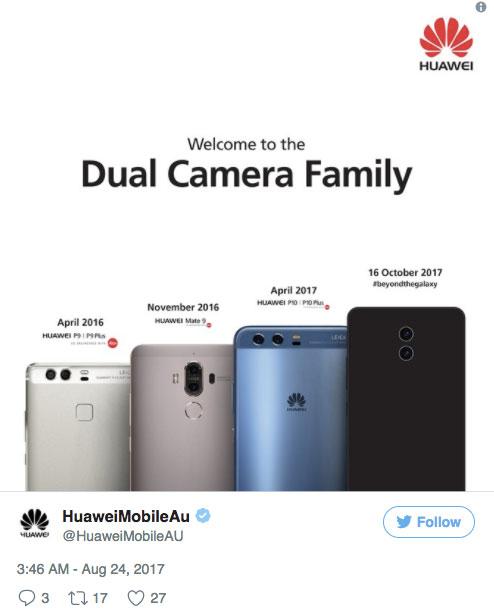 Twitteren árulkodott a Mate 10-ről a Huawei