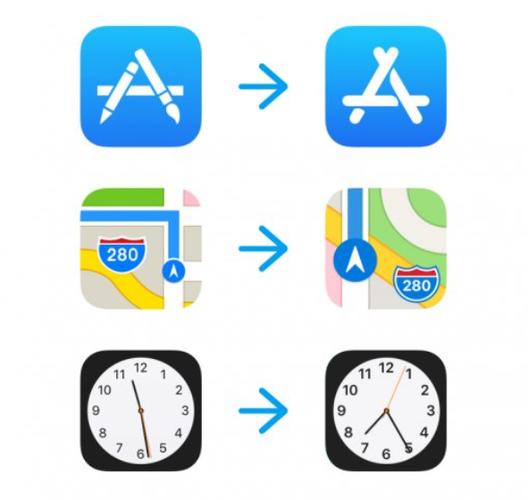 Új gyári ikonok az iOS 11 6. bétájában