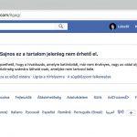 facebook hiba