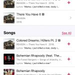 Apple Music keresés Queen (3)