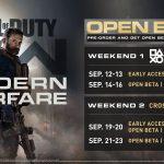Call of Duty Modern Warfare beta időpontok