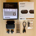 A Sony WF-1000XM3 dobozának tartalma