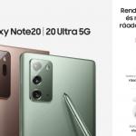 Galaxy Note20 előrendelés